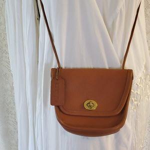 Vintage Everett Brown Leather COACH Crossbody